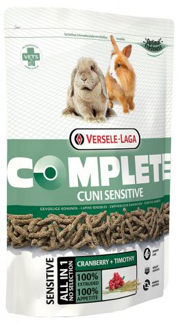 Barība pundurtrušiem - VERSELE-LAGA Complete Cuni Adult Sensitive, 500 g