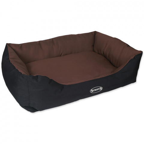 Guļvieta suņiem – Scruffs Expedition Box Bed (XL), 90 x 70 cm, Chocolate title=