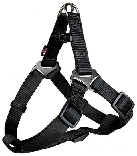 Krūšu siksna suņiem - Premium One Touch harness, M: 50–65 cm/20 mm, melna