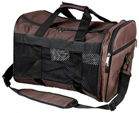 Сумка для транспортировки животных - Trixie Samira carrier, 31*32*52 см, brown/beige title=