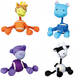Игрушка для собак - Ассортимент, Животные с веревкой, плюш, 16cm
