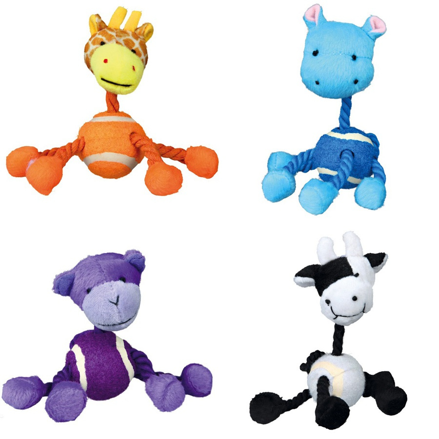 Rotaļlieta suņiem - Assortment Animals with Rope, Plush, 16cm