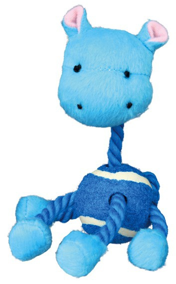 Игрушка для собак - Assortment Animals with Rope, Plush, 16 см