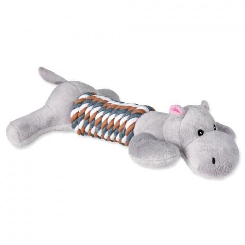 Игрушка для собак - Ассортимент, Игрушечные фигурки на веревке, плюш, 32cm title=
