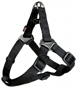 Krūšu siksna suņiem - Premium One Touch harness, S: 40–50 cm/15 mm, melna