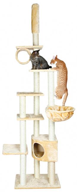 """Домик для кошек - """"Madrid"""" Scratching Post, от пола до потолка, бежевый, 68*44*245-270cm"""