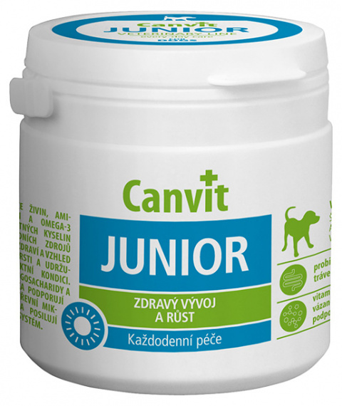 Vitamīni kucēniem - Canvit Junior tablets N100, 100 g title=