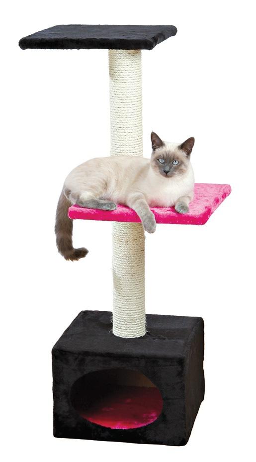 """Домик для кошек - TRIXIE """"Badalona"""", 109см, цвет - черный/фуксия"""