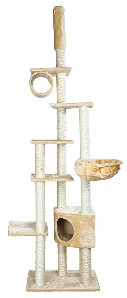 Mājiņa kaķiem – TRIXIE Madrid Scratching Post, 68 x 44 x 245–270 cm, Beige