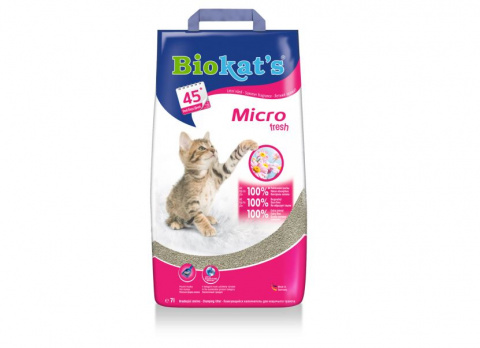 Песок для кошачьего туалета - Biokat's Micro Fresh, 7 kg title=