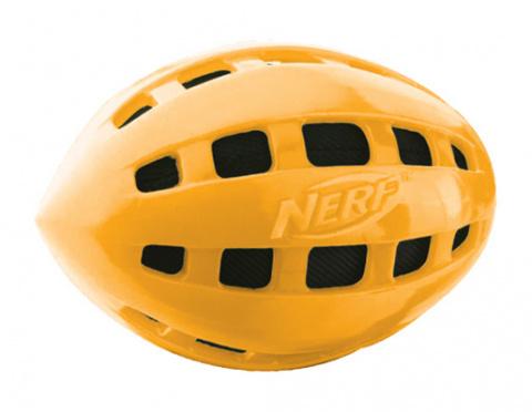 Rotaļlieta suņiem - NERF TPR Crunchable Squeak Football, 10 cm title=