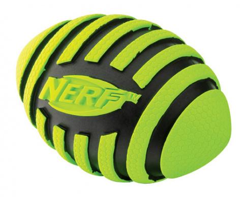 Игрушка для собак - NERF Rubber Squeak Football, 12,7 cm title=