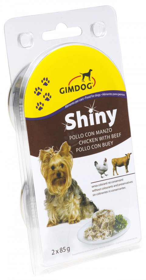 Консервы для собак - ShinyDog Chicken & Beef 2*85g