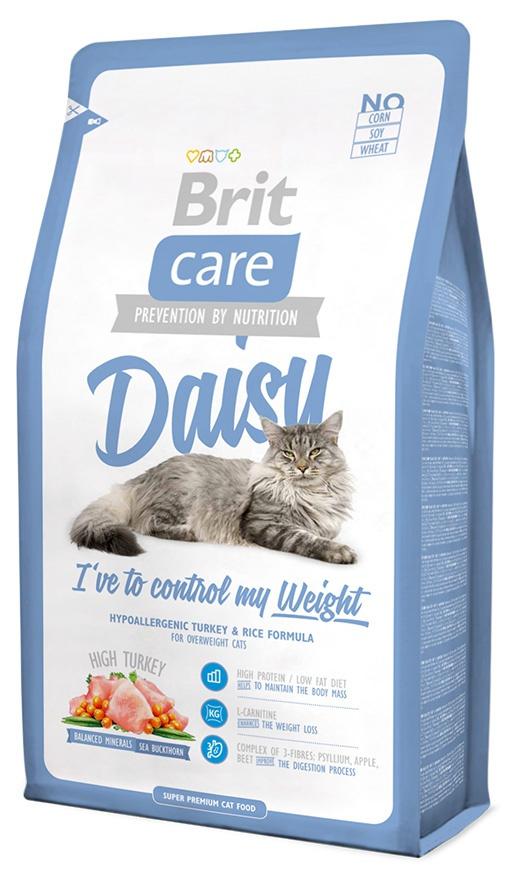 Barība kaķiem - Brit Care Cat Daisy I've to control my Weight, tītara gaļa un rīsi, 400 gr