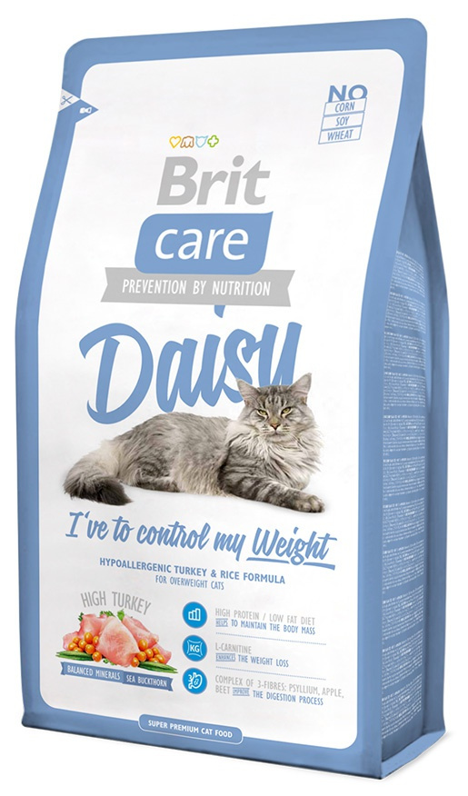 Barība kaķiem - Brit Care Cat Daisy I've to control my Weight, tītara gaļa un rīsi, 400 gr