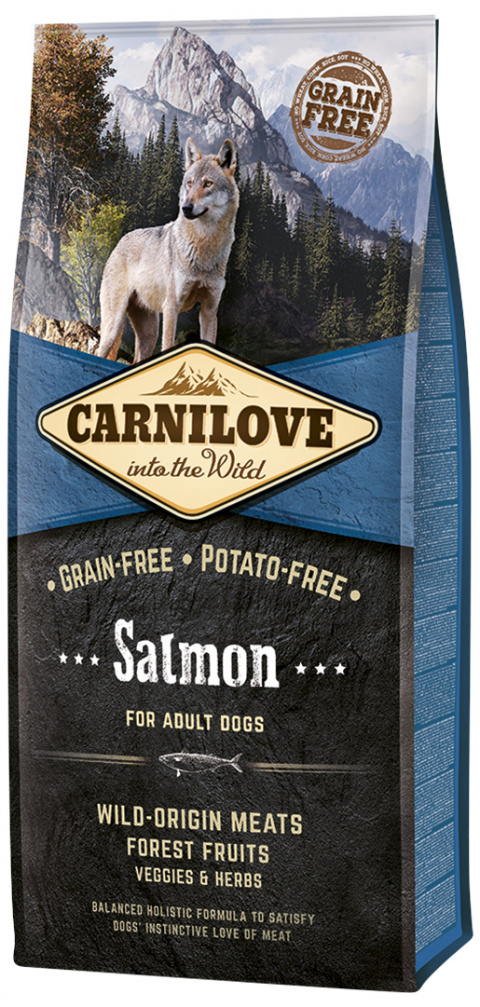 Barība suņiem - CARNILOVE Salmon for Adult, 12 kg title=