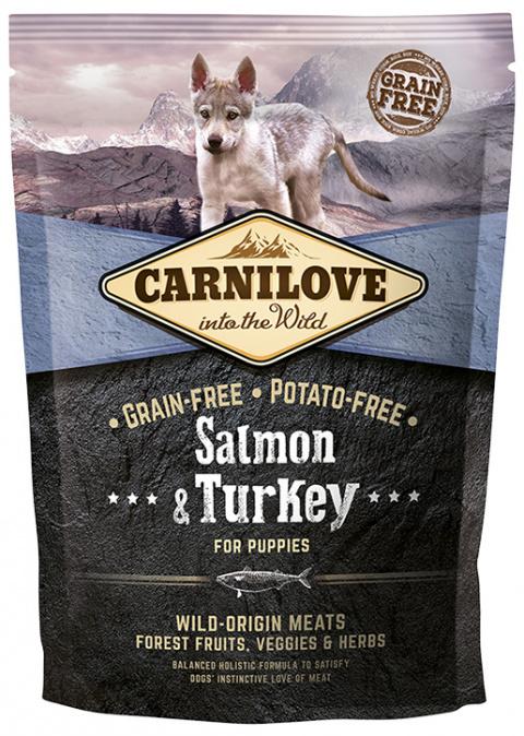 Barība kucēniem - CARNILOVE Salmon & Turkey for Puppies, 1.5kg