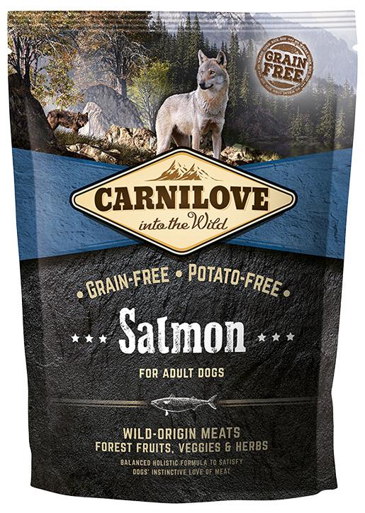 Barība suņiem - CARNILOVE pieaugušiem suņiem, ar lasi, 1.5kg