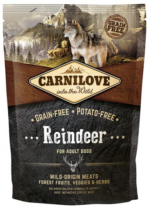 Корм для собак - CARNILOVE Reindeer for Adult, 1,5 кг title=