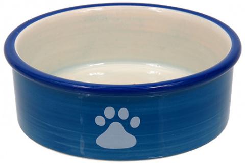 Bļoda kaķiem - MAGIC CAT, Ceramic Bowl with paws, blue, 12.5 cm