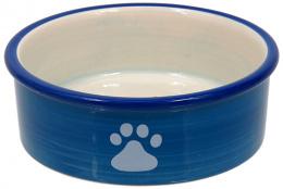 Миска для кошек – MAGIC CAT, Ceramic Bowl with Paws, Blue, 12,5 см