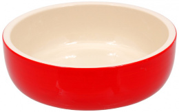 Bļoda kaķiem - MAGIC CAT, Ceramic Bowl, red, 14.5 cm