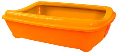 Туалет для кошек MAGIC CAT Economy, оранжевый, 42*31*13cm title=