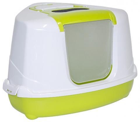 Туалет для кошек MAGIC CAT Jumbo, угловой, зеленый 59*45*39cm