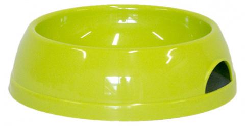 Миска для собак - DogFantasy, пластик, зеленый, 470 ml title=