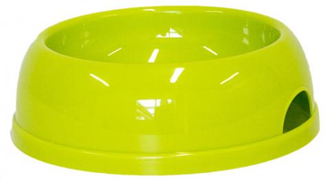 Миска для собак - DogFantasy, пластик, зеленый, 770 ml title=