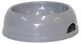 Миска для собак - DogFantasy, пластик, серый, 770 ml