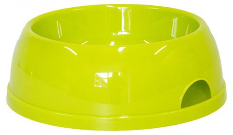 Миска для собак - DogFantasy, пластик, зеленый, 1450 ml title=