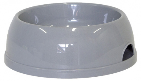 Миска для собак - DogFantasy, пластик, серый, 1450 ml title=