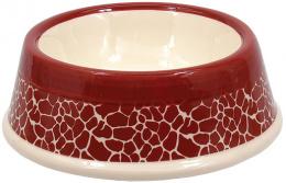 Керамическая Миска для собак - DF Eat on Feet Керамическая миска, красный,  жираф, 15.5*5cm, 0.7l