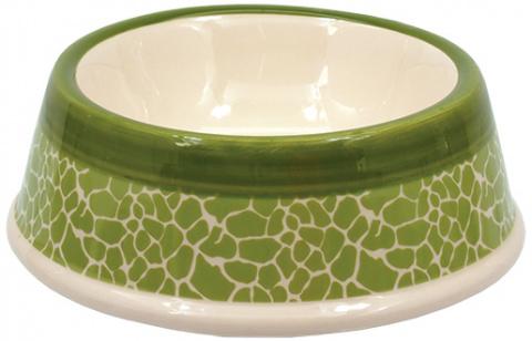 Bļoda suņiem keramikas - DF Eat on Feet Keramiska bļoda zaļa ceramic giraffe 15.5*5cm, 0.2l