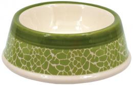 Керамическая Миска для собак - DF Eat on Feet Керамическая миска, зеленый,  жираф, 15.5*5cm, 0.2l
