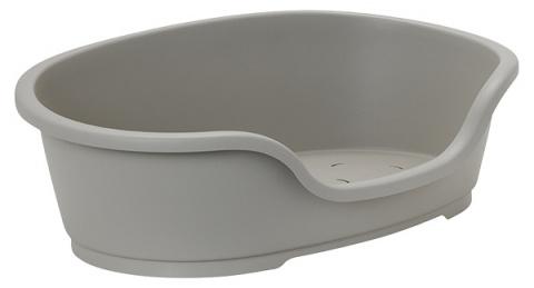 Спальное место для собак - Dog Fantasy Plastic Bed, цвет - серый,  60x36 cm  title=