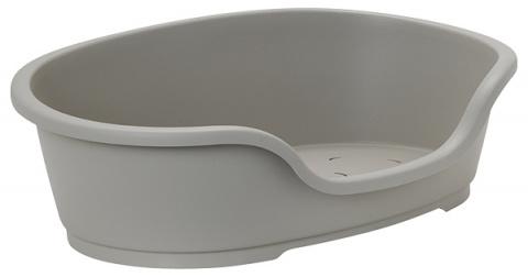 Спальное место для собак - Dog Fantasy Plastic Bed, цвет - серый, 70x42 cm