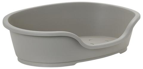 Guļvieta suņiem - Dog Fantasy Plastic Bed, pelēka, 95x55 cm