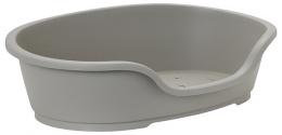 Спальное место для собак - Dog Fantasy Plastic Bed, цвет - серый,  95x55 cm