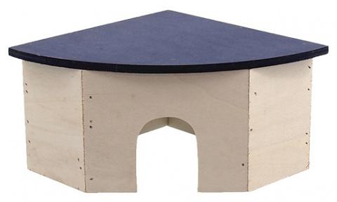 Угловой деревянный домик для грызунов - Домик SMALL ANIMAL  24 x 17 x 10,5 cm