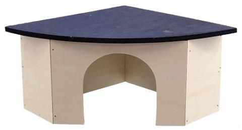 Koka māja (stūra) grauzējiem - Mājiņa  SMALL ANIMAL  33 x 23,5 x 13 cm title=