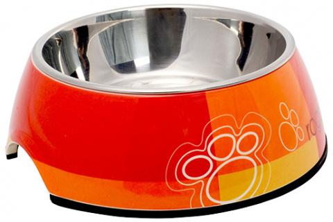 Bļoda suņiem metāla - ROGZ Bubble Tango Paws M, 350 ml title=