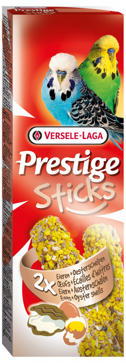 Лакомство для птиц – Versele-Laga Prestige 2 x Sticks Budgies Egg and Oystershell, 60 г