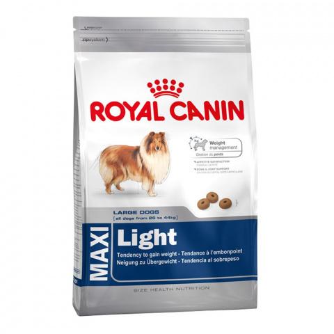 Корм для собак - Royal Canin Maxi Light, 15 кг
