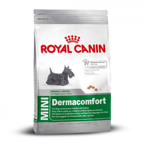 Корм для аллергичных собак - Royal Canin Mini Dermacomfort, 0.8 кг title=