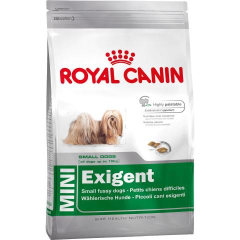 Корм для привередливых собак - Royal Canin Mini Exigent, 0.8 кг title=