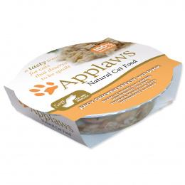Konservi kaķiem - APPLAWS Cat, Barība ar vistas krūtiņu un pīli, 60 g