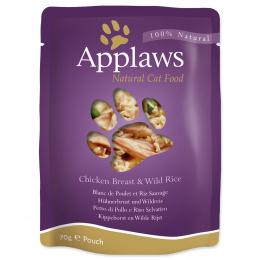 Консервы для кошек - APPLAWS Cat Pouch, с куриной грудкой и дикорастущим рисом, 70 г