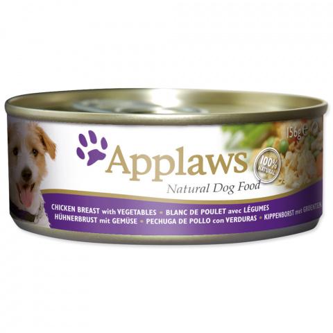 Konservi suņiem -  APPLAWS Dog, vista ar dārzeņiem, 156 g title=